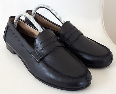 Russell and Bromley Mens / Boys Black Leather Penny Loafers Size 7 UK / EU 41