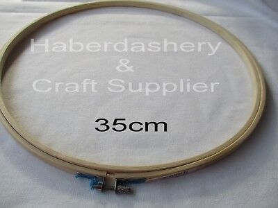 Embroidery Hoop Bamboo With Screw 35Cm