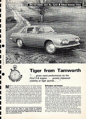 Motor road test: 1967 Reliant Scimitar 3-litre (6-page road test)