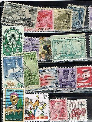 (13-778) 16 Assorted Canceled  US  Postage sTamps