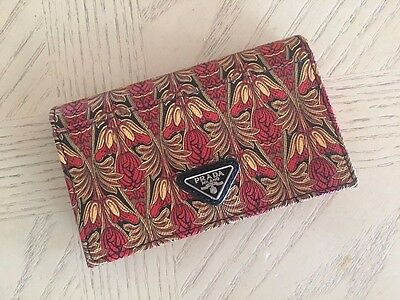 Prada Card Case Holder ROSSO 2M1122 saffiano leather new-Limited Edition