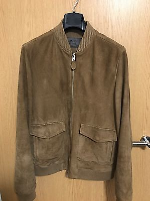 All Saints Bloomington Suede Bomber Jacket (Bnwt, Size Large, Cost £380, Leather