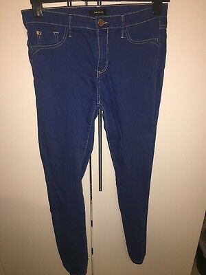 Ladies River Island Blue Jeggings Uk14 Stretch Jeans Trousers