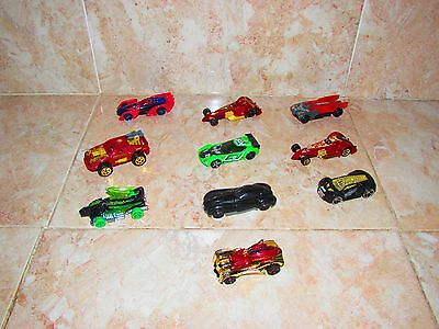 10 X Collectable Hot Wheels Cars Some By Mattel And Marvel