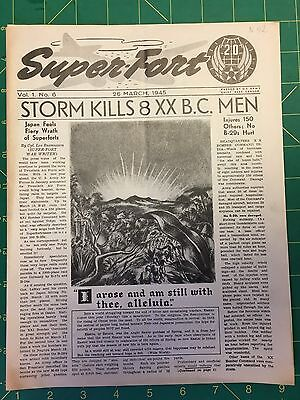 """""""Super-Fort, Newspaper of the 20 Bomber Command, March 1945, APO 493"""