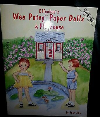 1995 Effanbee's Wee Patsy Paper Dolls & Playhouse