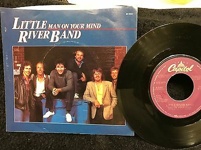 "LITTLE RIVER BAND -Orig HIT 45 & Pic Sleeve-""Man On Your Mind""-1982-Capitol-NM"