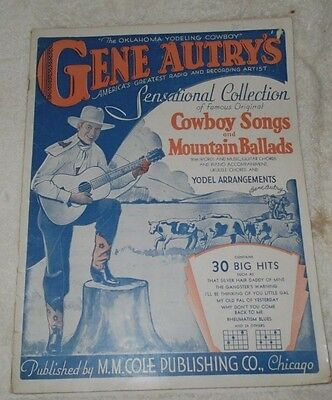 gene autry'/s sensational collection-cowboy songs and mountain ballads-sheet mus