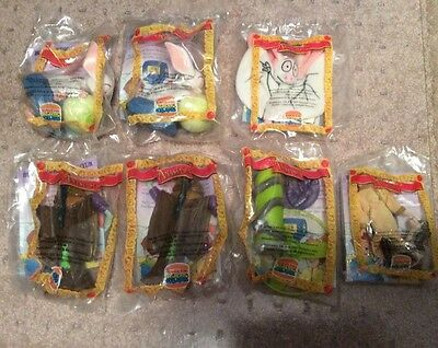 Burger King 1997 Anastasia ~ Lot Of 7 Toys ~ New ~ Sealed In Packages