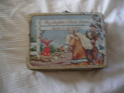 Vintage Roy Rogers And Dale Evans Metal Lunch Box