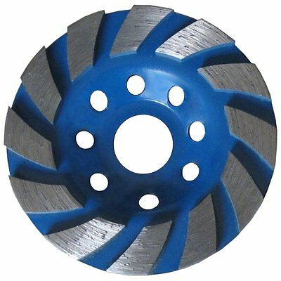 "Platinum Blades Heavy Duty 4"" Concrete Turbo Diamond Grinding Cup Wheel for"