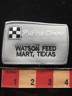 Puckered As-Is PURINA CHOW WATSON FEED Mary Texas Jacket Patch 71F2