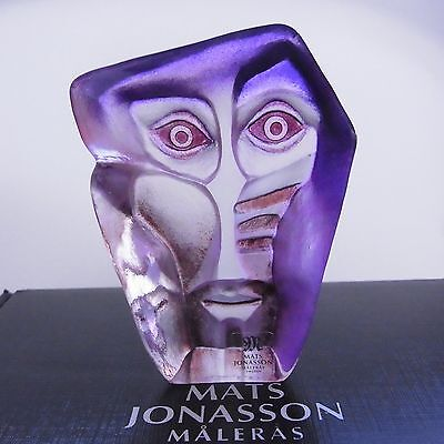 Crystal Glass Sculpture Geno Classic - Signed & New In Box - Maleras Sweden