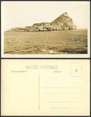 Gibraltar Old Real Photo Postcard THE ROCK Lighthouse Panorama General View R.P.