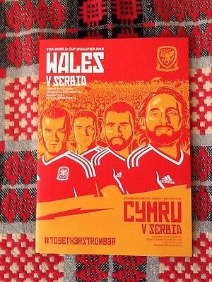 Wales v Serbia WC qualifier programme 12/11/16