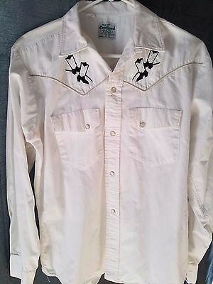 "Vintage ""The Cowhand"" Embroidered Western Shirt Size M"