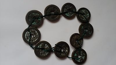 Set of 10 Qing Dynasty Chinese Coins in Order.Definitely Precious to Collecting