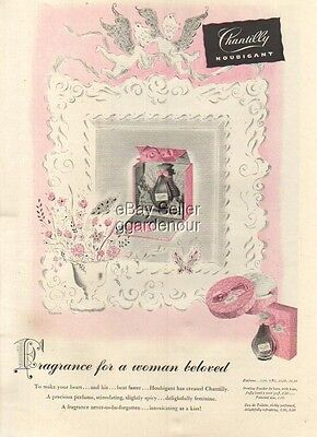 1942 Houbigant Chantilly perfume bottle art ~ Fragrance For a Woman Beloved ad
