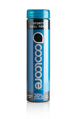Coolcore Chill Sport Towel : Upto 30% Cooler than skin temp when wet : Black :