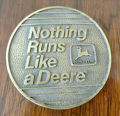 Nothing Runs Like a Deere Belt Buckle Circa 1983