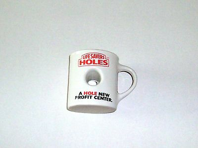 Vintage Life Savers Collectable Coffee Cup Mug With Hole in Middle Very Unique