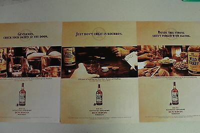 WILD TURKEY Lot of 9 different Full Page ADs magazine clippings bourbon