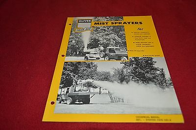 Oliver Tractor Iron Age Mist Sprayer Dealer's Brochure YABE12