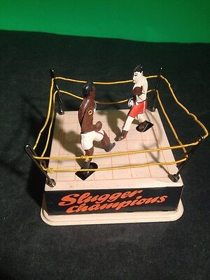 Vintage Slugger Champions Boxing Tin Wind Up Made In China