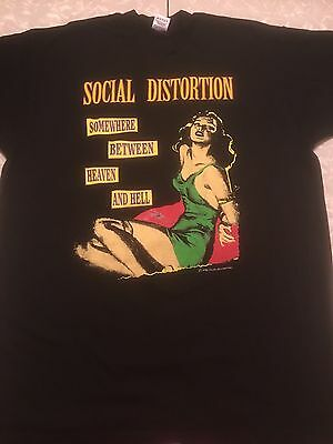 Social Distortion Somewhere Between Heaven And Hell 1992 Tour Shirt Rare XL