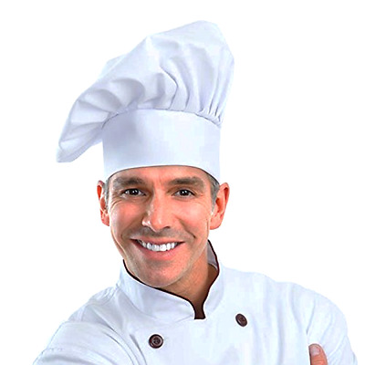 Chef Hat Adjustable Elastic Baker Kitchen Cooking Hat by WearHome(TM) (1pack)