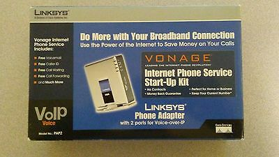 Unlocked - Linksys PAP2V2 Phone Adapter With 2 Ports For VOIP Service NEW