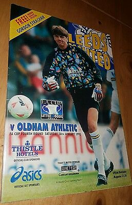 Leeds United vs Oldham Athletic 28/1/1995 F.A. Cup, 4th Round
