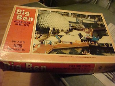 Expo67 Souvenir Puzzle Over 1000 Pieces« Cinesphere ,ontario Place«Complet Rare