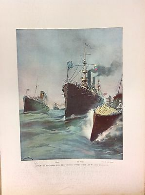Harper's Pictorial History Spanish American War~American Battleship~Large Format
