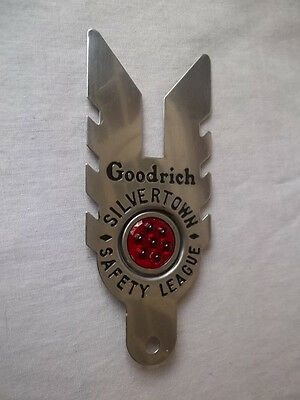 BF Goodrich Silvertown Safety Leaguse License Tag Topper