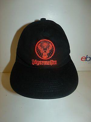 Jagermeister Cap Hat Black W/ Orange Logo Snapback