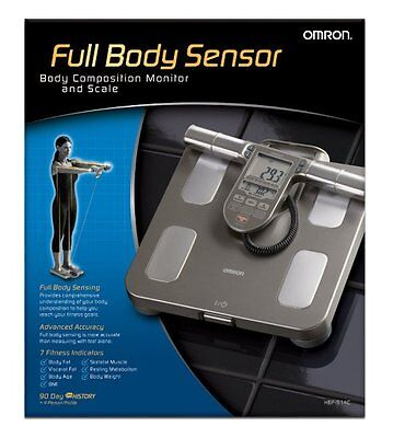 NEW Omron HBF-514C Full Body Composition Sensing Monitor with Fitness Scale
