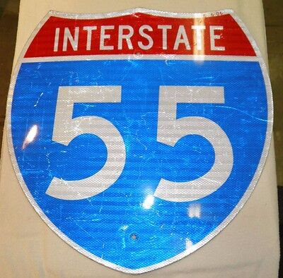 Authentic And Real Interstate 55 Highway Sign In Used Condition!!! Wow!*