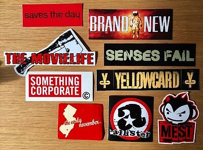 PUNK ROCK 9 sticker lot The Movielife Saves the Day Something Corporate Mest