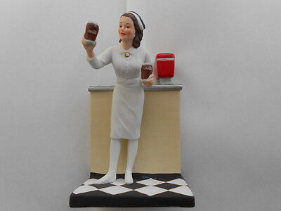 Coca Cola Soda Fountain Jerk In Porcelain Heirloom Tradition 1986