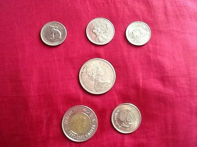 Canadian coins x6 1965-2015 collectable coins UK seller