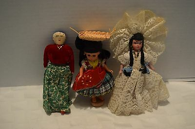 Vintage Lot Of 3 Small Dolls
