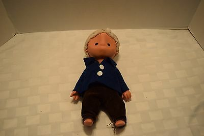 Vintage Cloth And Hard Vinyl Doll, No Mouth