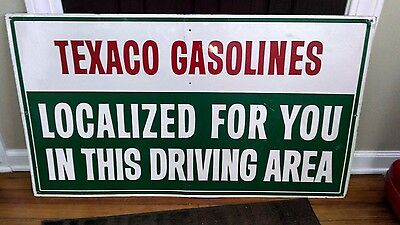 Texaco Gasoline Gas Station Advertising Sign
