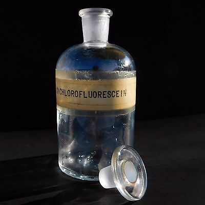 T.C.W. Laboratory Apothecary Bottle Dichloroflourescein with Stopper