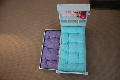 """NWOB GENUINE American Girl Doll """"Bouquet Bed, ACCESSORIES & BEDDING SOLD OUT"""