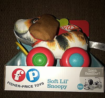 Fisher Price Toys Soft Lil' Snoopy Crinkle Squeak & Roll