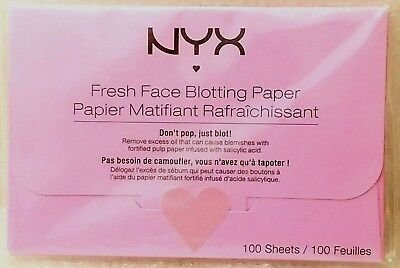 NYX Fresh Face Blotting Paper - 100 Count Sheets - BPRBC
