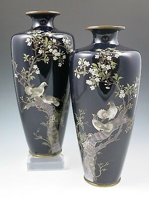 Antique Japanese Cloisonne Enamel Vase - Meiji Period