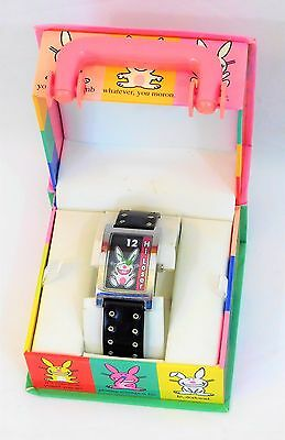 "New ~Happy Bunny~ Cartoon Animation ""Hi Loser!"" Girl Women Wrist Watch in Case"